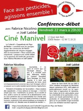 Conférence-débat : Face aux pesticides, agissons ensemble!