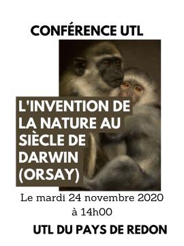Conférence UTL : L'invention de la nature au siècle de Darwin (Orsay)