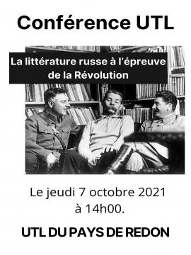 Conférence UTL : La littérature russe à l'épreuve de la Révolution
