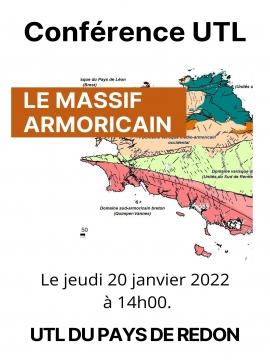 Conférence UTL :  Le massif armoricain