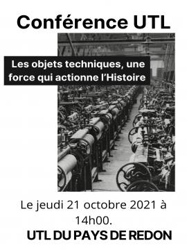 Conférence UTL : Les objets techniques, une force qui actionne l'Histoire