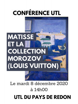 Conférence UTL : Matisse et la collection Morozov (Louis Vuitton)