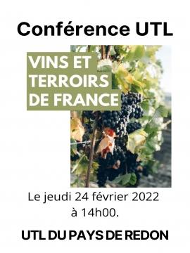 Conférence UTL : Vins et terroirs de France